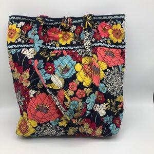 Vera Bradley Floral Bucket Tote Shoulder Bag